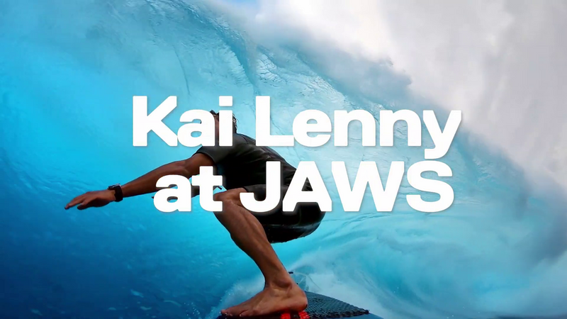 Top 10 du surf en GoPro Kai Lenny surf at JAWS