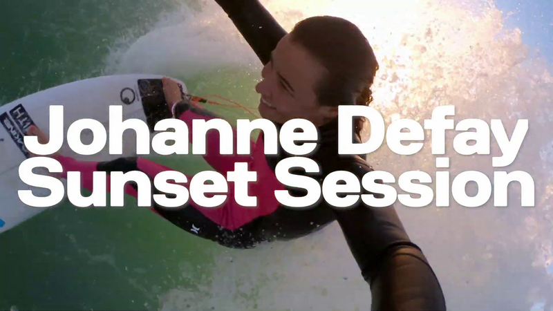 Top 10 du surf en GoPro Johanne Defay sunset session