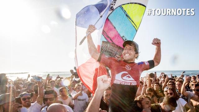 Jérémy Florès vainqueur du quiksilver pro france 2019 hossegor