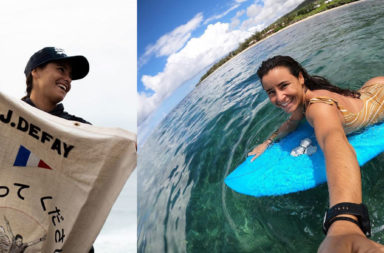 Johanne Defay surfeuse en string vlog take off en route vers tokyo 2020