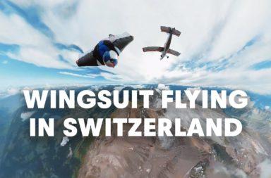 Voler en wingsuit au dessus des Alpes Suisses Redbull