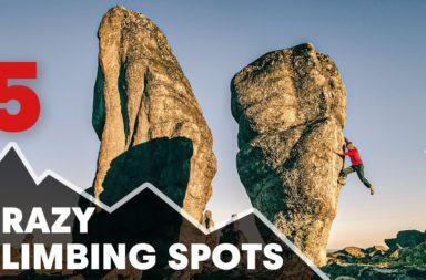 5 des sites d'escalade les plus fous du monde