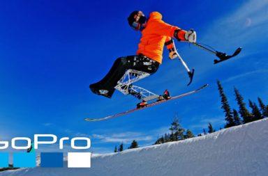 trevor kennison gopro fauteuil ski handicap sit ski jump