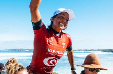 sally fitzgibbons gagne rottnest rip curl 2021 australie string thong bikini