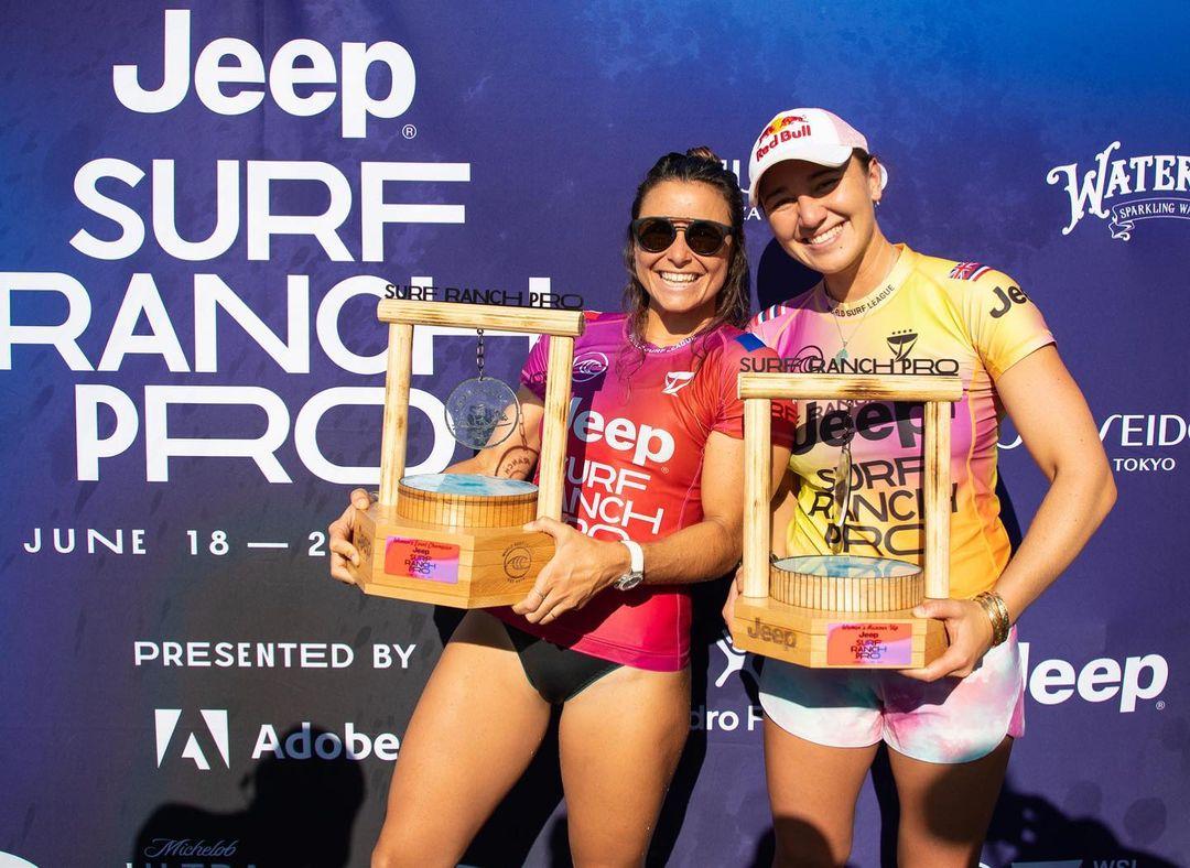 johanne defay remporte le surf ranch pro 2021