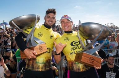 Carissa Moore et Gabriel Medina champions du monde wsl 201 surf surfing